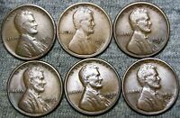 1910-S 1911-S 1925-S 1926-S 1928-S 1929-D LINCOLN CENT ---  LOT --- D416