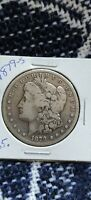 1879-S MORGAN SILVER DOLLAR 'LY WORN'