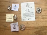4 SILVER PROOF COINS