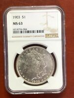 1903 MORGAN SILVER DOLLAR NGC MINT STATE 63
