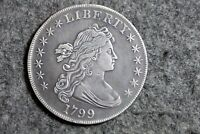 ESTATE FIND 1799  DRAPED BUST SILVER DOLLAR  D29492