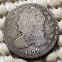 1832 CAPPED BUST DIME 10 SILVER COIN EARLY US TYPE