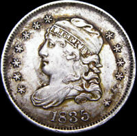 1835 CAPPED BUST HALF DIME TYPE COIN ---- STUNNING ---- D758