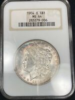 RIM TONED 1904 O MORGAN SILVER DOLLAR MINT STATE 64 229
