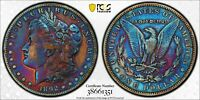 1892 S MORGAN SILVER DOLLAR. GOLDSHIELD PCGS GENUINE CLEANED F-DETAIL.