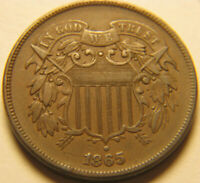 1865 TWO CENT PIECE CH.EXTRA FINE  2C CHOICE  FINE  ORIGINAL COIN FOR TYPE