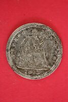 1845 P SEATED HALF DIME SILVER COIN EXACT COIN SHOWN COMBINED SHOPPING OCE 05