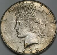 1922-S SILVER PEACE DOLLAR DDR SOLID ORIGINAL
