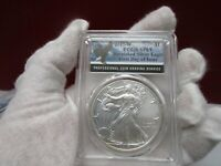 2017-W PCGS SATIN FINISH 69 BURNISHED SILVER EAGLE IN THE EAGLE LABEL