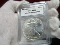 2016-P ICG MINT STATE 69 SILVER EAGLE STRUCK IN PHILADELPHIA