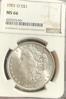 1901-O MORGAN SILVER DOLLAR MINT STATE 66 NGC BRIGHT BLAST