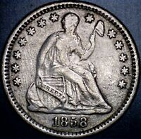 1858 O NEW ORLEANS MINT SEATED LIBERTY SILVER HALF DIME