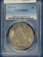1901-O MORGAN DOLLAR. PCGS MINT STATE 64. TONED. ET2555/EN