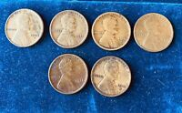 1910S 1911S 1912S 1913S 1914S 1915S LINCOLN HEAD CENT PENNY