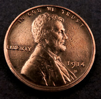 1914 S LINCOLN WHEAT PENNY CENT // GEM BU  RED  //    W1334