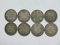 CANADA 25 CENTS QUEEN VICTORIA KING GEORGE EDWARD SILVER WOR
