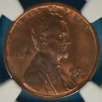 1931-S LINCOLN WHEAT CENT NGC MINT STATE 64RB- SEMI-KEY DATE,  EXAMPLE