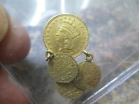 1 DOLLAR LIBERTY GOLD COIN IN EXTRA FINE CONDITION LOOPS AND