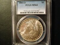 1884-O MORGAN DOLLAR PCGS GRADED MINT STATE 64 VAM WITH REVERSE COLOR