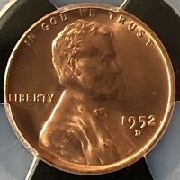 1952-D 1C RD LINCOLN WHEAT ONE CENT  PCGS MINT STATE 64RD         40510362