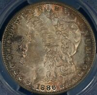 1886-S MORGAN DOLLAR. VAM-2. TOP 100. PCGS MINT STATE 62.  ET2569/URH