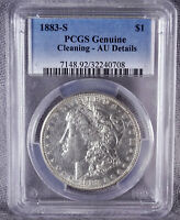 1883-S MORGAN SILVER DOLLAR PCGS AU DETAILS - CLEANING 240708