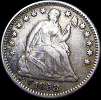 1858 SEATED LIBERTY HALF DIME       TYPE COIN NICE       H619