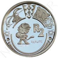 SUDAFRICA 2 RAND PLATA 2009 FIFA WORLD CUP SOCCER SILVER .925  SOUTH AFRICA