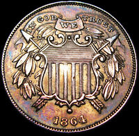 1864 SMALL MOTTO TWO CENT PIECE 2CP TYPE COIN       STUNNING DETAILS       K421