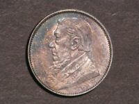 SOUTH AFRICA 1897 1 SHILLING SILVER AU UNC   NICE TONING