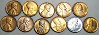 1930-S 1934 1935-S 1937-1947 MIXED DATES LINCOLN CENT GEM BU CONDITION  J020