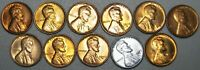 1930-S 1934 1935-S 1937-1947 MIXED DATES LINCOLN CENT GEM BU CONDITION  J021