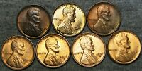 1929 1930 1930-S 1936-D 1936-S 1937-S LINCOLN CENT GEM BU CONDITION LOT J198
