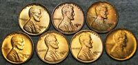 1930 1930-S 1936-D 1934-D 1937-S 1940-S LINCOLN CENT GEM BU CONDITION LOT J199