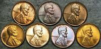 1930-S 1934-D 1935-D 1936-D 1937-S LINCOLN CENT GEM BU CONDITION LOT --- J204
