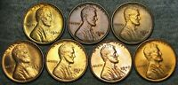 1930 1930-S 1934-D 1936-D 1937-S LINCOLN CENT GEM BU CONDITION LOT --- J205