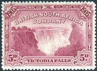RHODESIA 1905 VICTORIA FALLS 5D CLARET.  AN UNMOUNTED MINT EXAMPLE SG 96