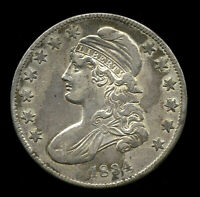 1834    VF   FINE   CAPPED BUST HALF DOLLAR 505-301