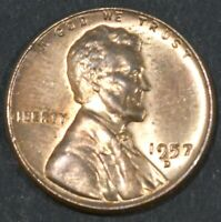 1957-D LINCOLN CENT PENNY BU   B16874