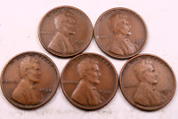 5X 1924-S LINCOLN WHEAT CENT CENT LOT // FINE-VF // 5 COINS WL61