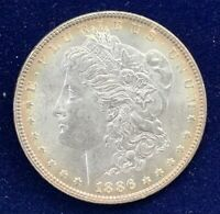 1886 MORGAN SILVER DOLLAR UNCIRCULATED UNC  COLOR AND EYE APPEAL