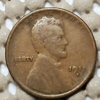 1911 D DENVER MINT LINCOLN WHEAT CENT 1 COPPER COIN EARLY US TYPE BETTER DATE