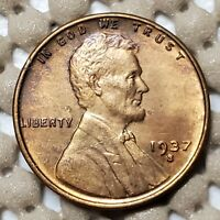 1937 S SAN FRANCISCO MINT LINCOLN WHEAT CENT 1 COPPER COIN EARLY US TYPE