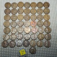 1926 D LINCOLN WHEAT CENT 1 COPPER COIN ROLL OF 50 COINS RAGE AG - VF