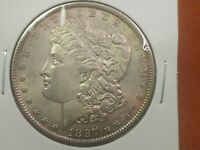 1897 MORGAN SILVER DOLLAR $1 CHOICE AU/BU