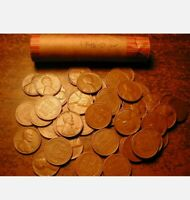 1957-D LINCOLN WHEAT CENT PENNY ROLL,  CONDITION