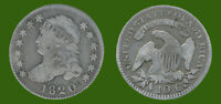 1820 CAPPED BUST DIME 89  SILVER 11  COPPER CIRCULATED UNGRA