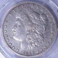 1893-S SILVER DOLLAR PCGS VF DETAILS CLEANED LF1314/UHNX