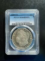 1880 CC MORGAN SILVER DOLLAR, PCGS MINT STATE 64 DMPL. ONLY 27 GRADED HIGHER.