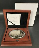 1867 CANADA 5 OZ FINE SILVER MEDAL FATHERS OF CONFEDERATION SET